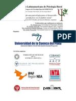 1 Congreso Latinoamericano de Psicología Rural
