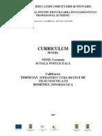 CRR_Nivel 3 Avansat_anul I Si II_Tehnician Infrastructura Retele de Telecomunicatii