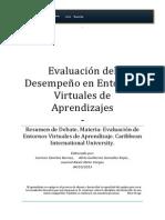 Evaluación del Desempeño en Entornos Virtuales. Debate