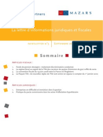 Lettre Juridique Et Fiscale- Septembre 2009