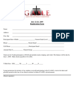 GAME Registration Form