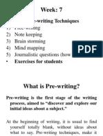 pre writing techs