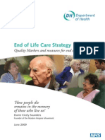 Quality Markers and measures for end of life care'
