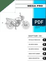 Honda Mega Pro Parts Catalog Edisi 1