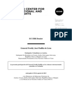 Documento sobre el general (r) Freddy Padilla de León