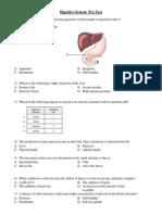 Adi Digestive System Pre Test