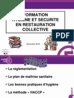 Diaporama de La Formation en Hygiene Alimentaire 12 2010 Creteil