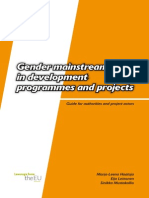 Gender Mainstreaming in Development Programmes and Projects