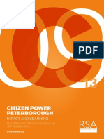 RSA Citizen power Peterborough