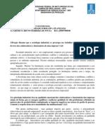 Atividade Complementar - Psicologia e Sociologia Industrial
