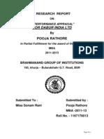 01performance Appraisal for Dabur India Ltd