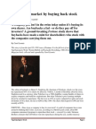 Harry Singleton - Beating The Market By Buying Back Stock