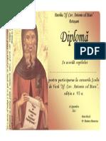 Diploma Sf. Antonie Botosani