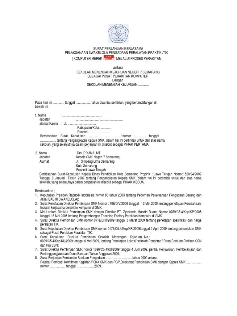 Mou Perakit Dan Pemesan Smk Zyrexsmkn 7 Semarang