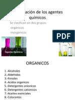 Clasificación de los agentes químicos