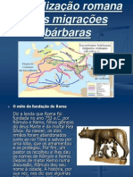 A civilização romana e as migrações bárbaras