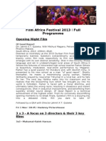 Film Africa 2013 Programme