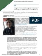 Iglesia peruana no tiene documentos sobre expulsión de un obispo
