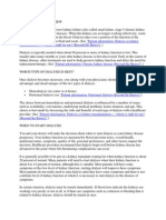 Hemodialysis Overview