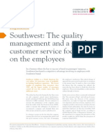 C01 Southwest the Quality Management and a Good Customer Service Focused in the Employees