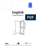 English 4 DLP 61 - Using Prepositions