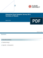 2013 Enterprise Cloud Adoption Survey