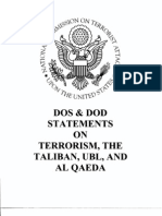 T3 B15 DOS-DOD Statements on Terrorism 1 of 2 Fdr- Reports- Transcripts- Info- 1st Pgs for Reference