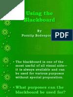 Using the Blackboard