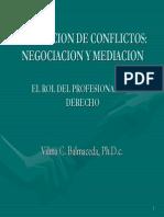 Negociacion y Mediacion