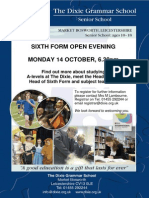 Sixth Form Open Evening Poster