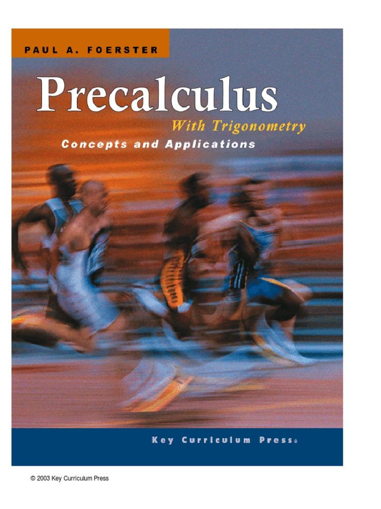 Precalculus With Trigonometry  7e460708ccb7