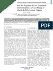 Population and the Nigerian Socio- Economic Development Dilemma