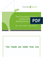 Executives Guide to Leading Effective Brainstorming Sessions
