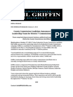Griffin Announces Campaign Leadership Team