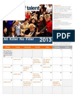 Fistful of Talent Sample Marketing Calendar