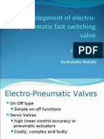 Development of Electro-pneumatic Fast Switching Valve
