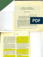 Políticas y planificación del lenguaje. Introducción.Hamel_1993