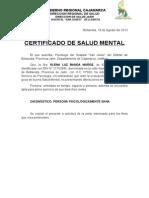 Certificado Salud Mental Cuna Mas