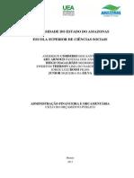ADMINISTRAÇÃO FINANCEIRA E ORCAMENTÁRIA