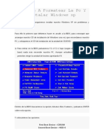 Aprende a Formatear La Pc Y Instalar Windows Xp