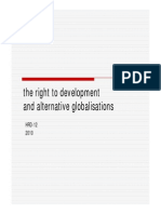 the right to development and alternative globalisations