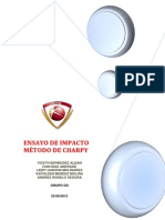 Ensayo de Impacto - Charpy