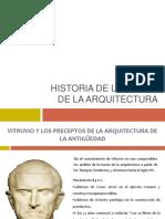 Historia de la teoría de la arquitectura