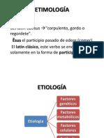 etiologia etimologia