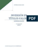 Inversion en Titulos-Valores - Material de Apoyo