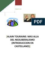 Alain Touraine. Mas Alla del Neoliberalismo -Introduccion