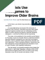Videogames Can Improve Older Brains!!