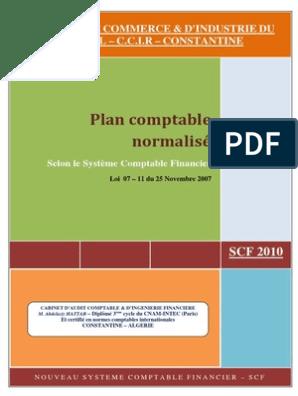 SCF COMPTABLE TÉLÉCHARGER ALGERIE PDF PLAN