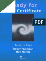 Ready for First Certificate Teacher's Book