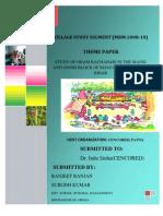 A report on the Study of Gram Kachahari In Bihar